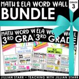 Math and ELA Word Wall Bundle 3rd Grade