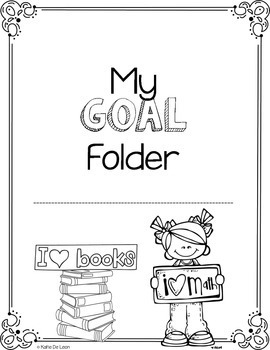 Math and ELA goal folder