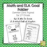 Math and ELA student goal binder