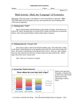 Math and Economics Introductory Activity