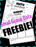 Math and Guided Reading Data Sheets *FREEBIE*