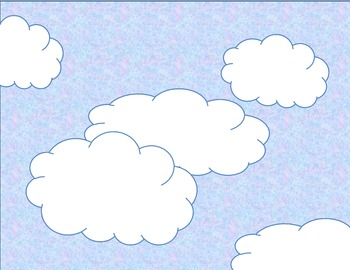 Math and Language Arts CLOUDS SCENE for Story Telling, Story Problems, and More