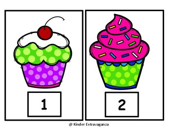 Cupcake Math and Language Arts Bundle