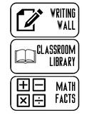 Math and Language Arts Signs