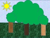 Math and Language Arts TREES SCENE for Story Telling, Story Problems, and More