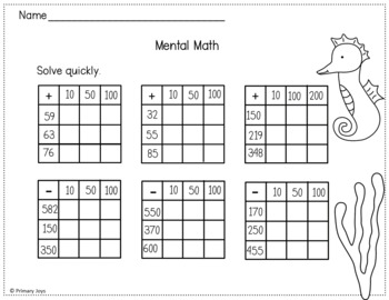 Math and Language Worksheets (summer edition)Second Grade