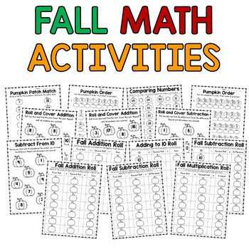 Math and Literacy Activities- Fall
