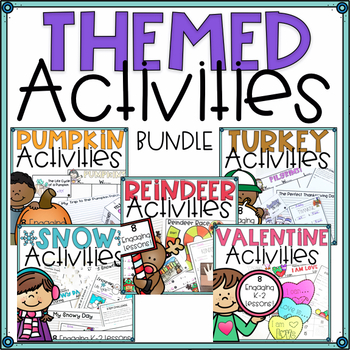 Math and Literacy Activities For First Grade Bundle