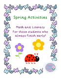 Math and Literacy Activities for Primary