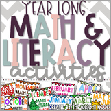 Math and Literacy Activity MEGA Bundle for Entire Year