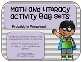 Math and Literacy Activity Sets