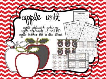 Math and Literacy Apple Unit