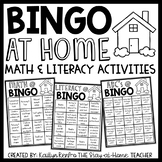 Math, Literacy and Science BINGO at Home