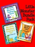 Math and Literacy Bundle Pack: Little Monsters (Distance L