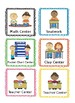 Daily 5 Literacy Center Labels Kid Themed