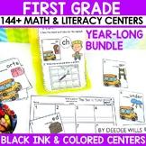 Math and Literacy Center Activities 1st Grade Growing BUNDLE