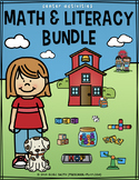 Math and Literacy Center Activities Bundle