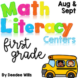 Math and Literacy Center Activities-First Grade Aug/Sept