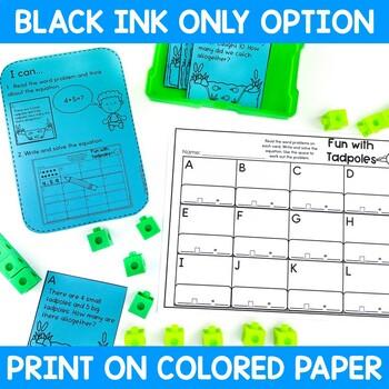 Math and Literacy Center Activities-First Grade April