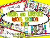 Math and Literacy Center Signs {Work Station Signs} Rainbo