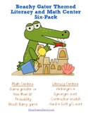 Math and Literacy Center Six Pack: Beach Theme