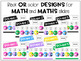 Math and Literacy Center Slides Bundle