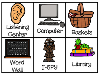 Math and Literacy Center Wheel Labels