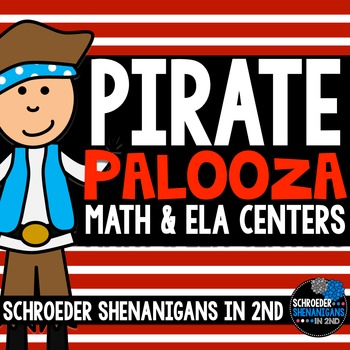 Math & Literacy Centers {pirate}, r controlled, addition/subtraction, diphthongs