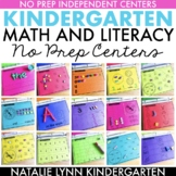 Math and Literacy Centers Binder for Kindergarten