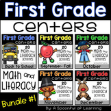 Math & Literacy Centers BUNDLE #1 - First Grade