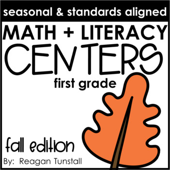Math and Literacy Centers Fall First Grade