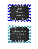 Math and Literacy Centers Labels
