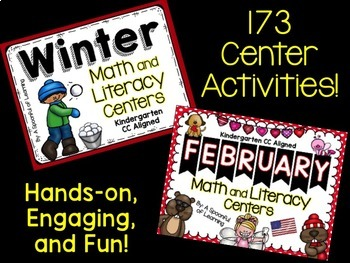 Math and Literacy Centers Part 2 of 2 Year BUNDLED! Aligned to the CC