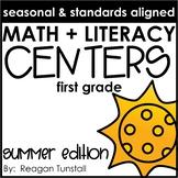 Math and Literacy Centers Summer First Grade