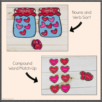 Math and Literacy Centers Valentines Edition