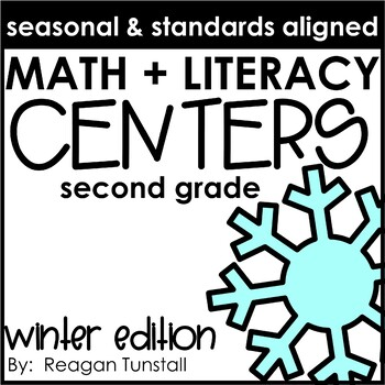 Math and Literacy Centers Winter Second Grade
