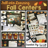 Fall Centers for Math and Literacy ~ Fall into First Grade