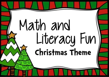 Math and Literacy Christmas Fun