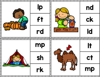 Math and Literacy Clip Cards Growing Bundle