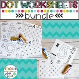 Preschool Worksheets: Alphabet and Number Dot Marker printables