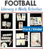 Math and Literacy Football Activities Preschool & Kindergarten