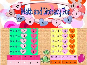Addition and Subtraction - Math and Literacy Fun - PowerPo