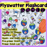 Interactive Sight word Game - Shapes, Numbers, Letters  - Flyswatter Activity