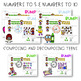 Math and Literacy Game BUMP set
