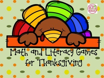 Math and Literacy Games for Thanksgiving
