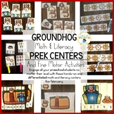 Math and Literacy Groundhog Day Activities Preschool & Kin
