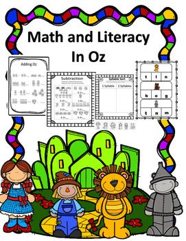 Kindergarten Math and Literacy In Oz