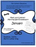 Math and Literacy Morning Work (January)