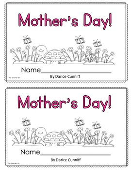 Kindergarten- Special Education - Mother's Day Math and Literacy