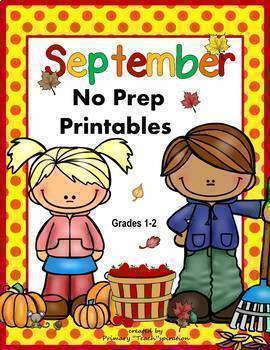 Math and Literacy NO PREP Printables for Common Core Skills  {All Year BUNDLE}